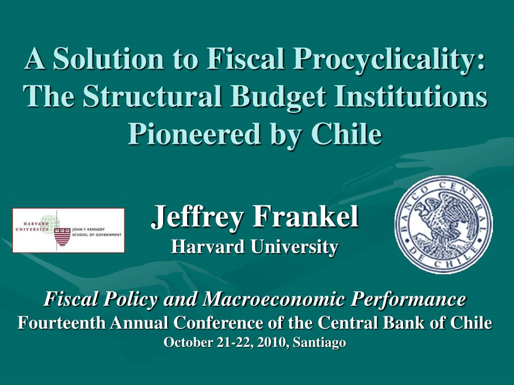 a solution to fiscal procyclicality the structural budget institutions pioneered by chile l.