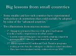big lessons from small countries