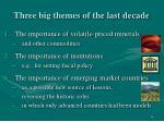 three big themes of the last decade