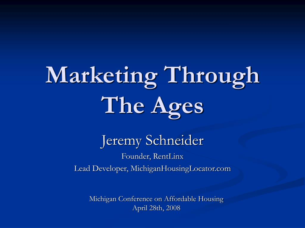 marketing through the ages l.