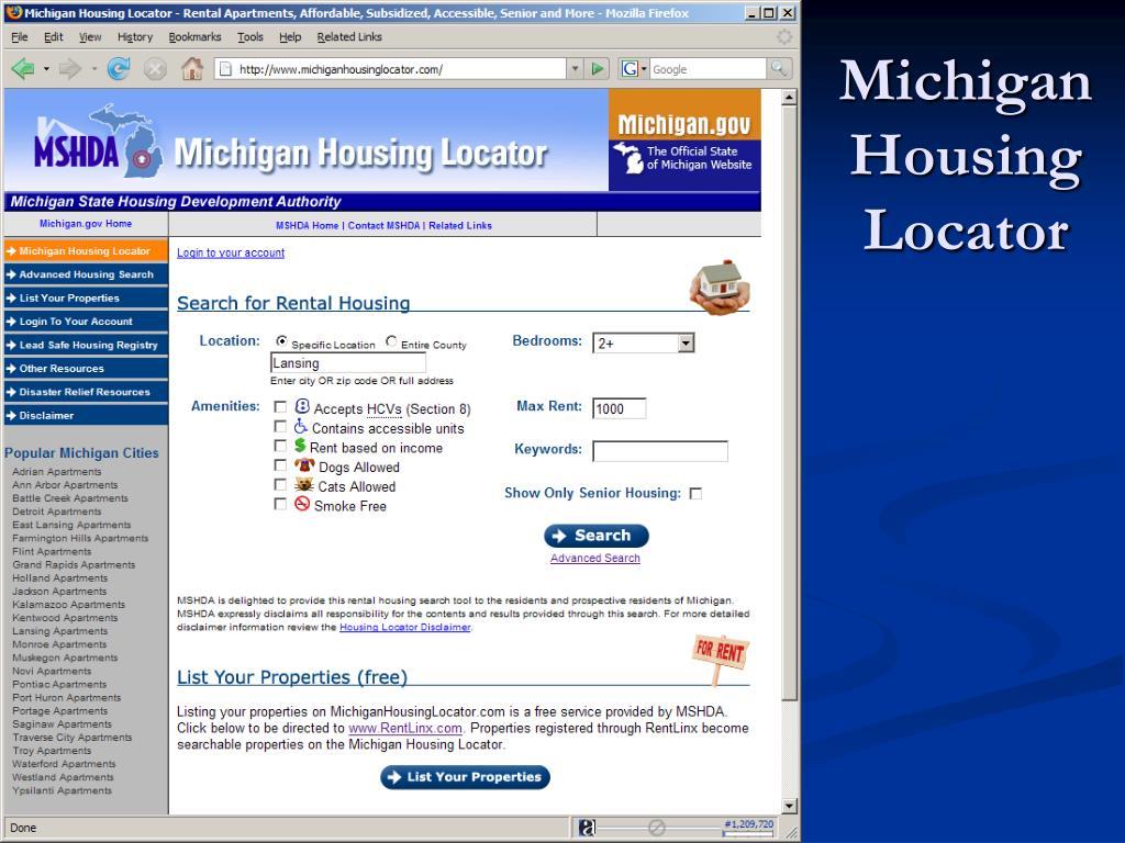 Michigan Housing Locator