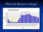 when are renters looking25
