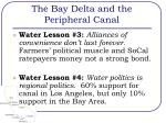 the bay delta and the peripheral canal11