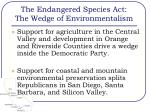 the endangered species act the wedge of environmentalism18