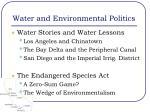water and environmental politics