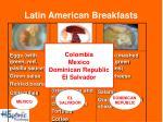 latin american breakfasts