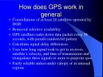 how does gps work in general