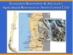 ecosystem restoration alternative agricultural resources in north central chile