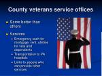 county veterans service offices