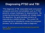 diagnosing ptsd and tbi
