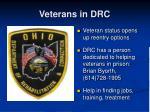 veterans in drc19