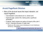 avoid pagerank dilution