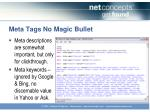 meta tags no magic bullet