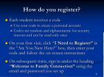 how do you register