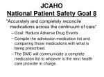 jcaho national patient safety goal 8
