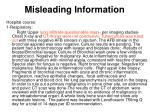 misleading information24