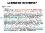 misleading information25