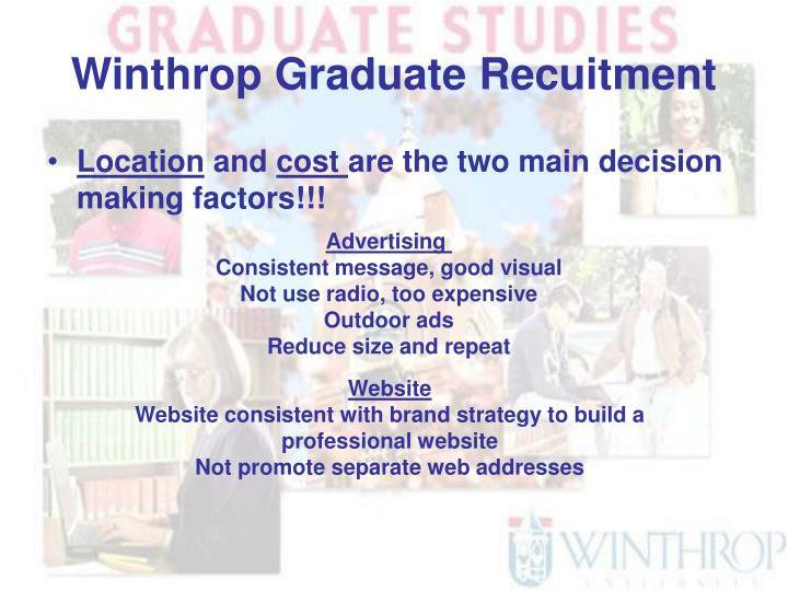 Winthrop graduate recuitment