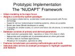 prototypic implementation the nudapt framework