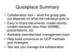 quickplace summary