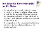 ion selective electrodes ise for ph meter