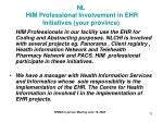 nl him professional involvement in ehr initiatives your province