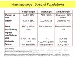 pharmacology special populations