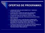 ofertas de programas