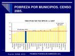 pobreza por municipios censo 2005
