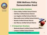 2006 wellness policy demonstration grant1