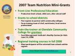 2007 team nutrition mini grants