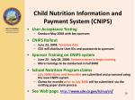 child nutrition information and payment system cnips