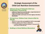 strategic assessment of the child care nutrition environment