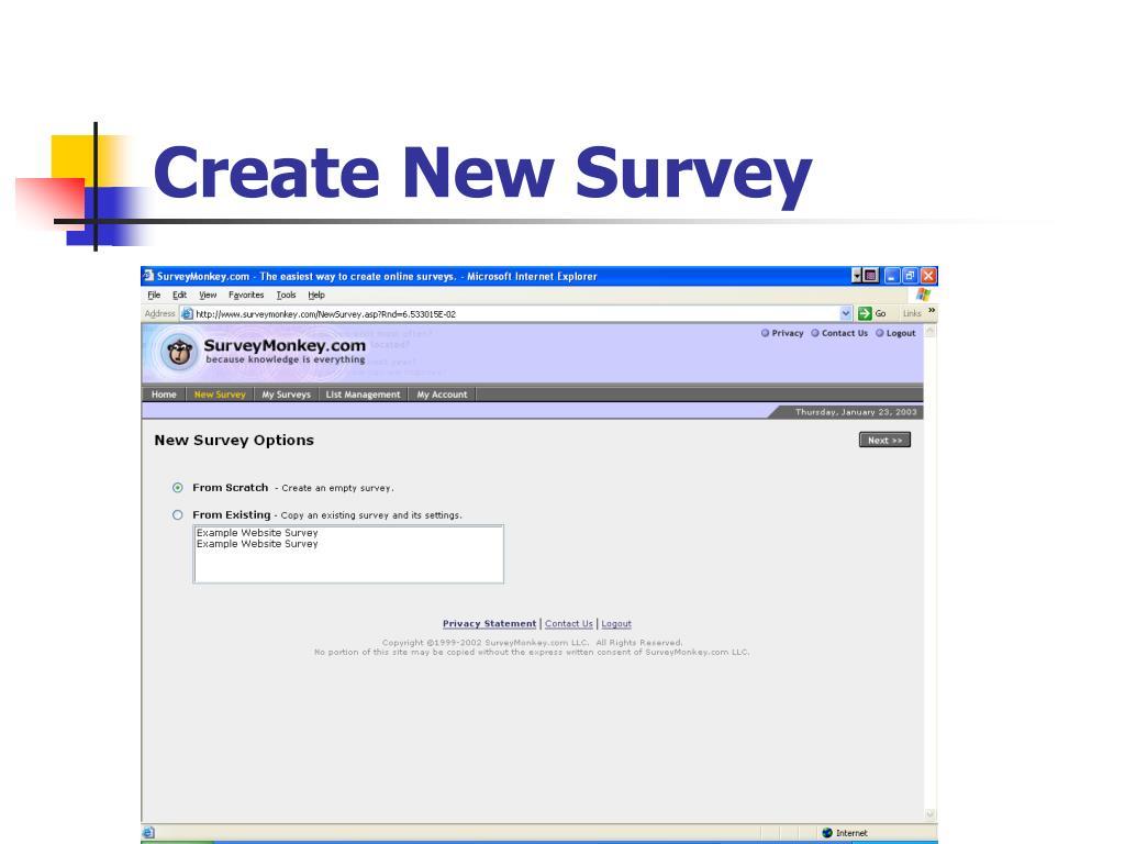 Create New Survey