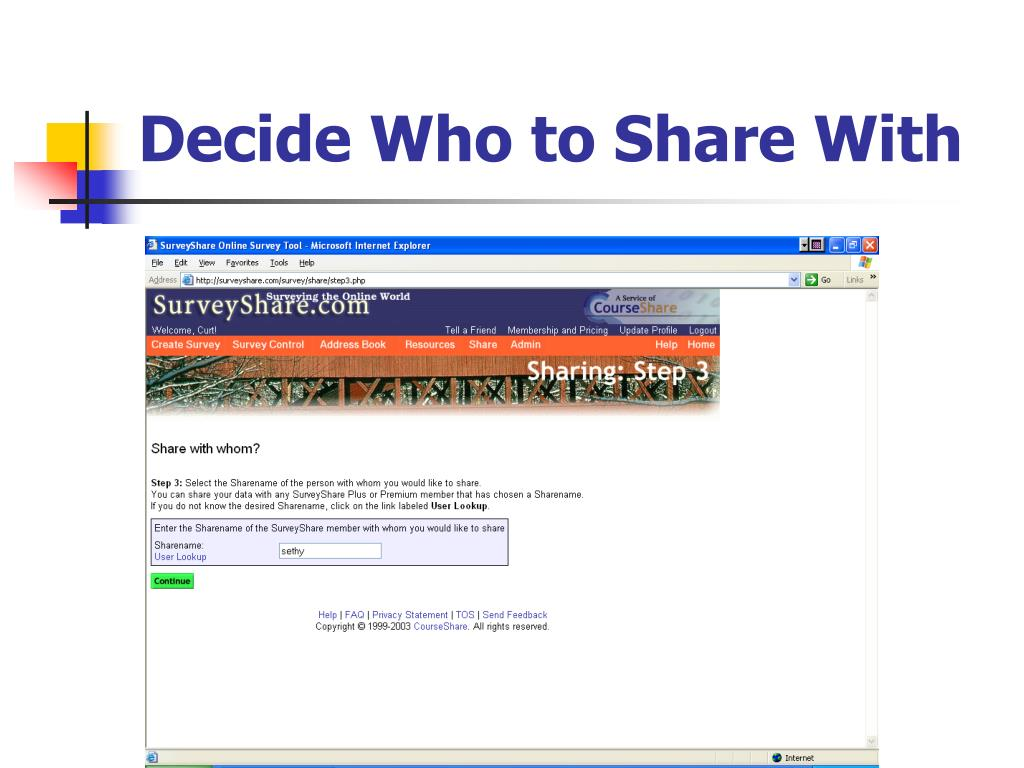 Decide Who to Share With