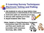 e learning survey techniques electronic voting and polling
