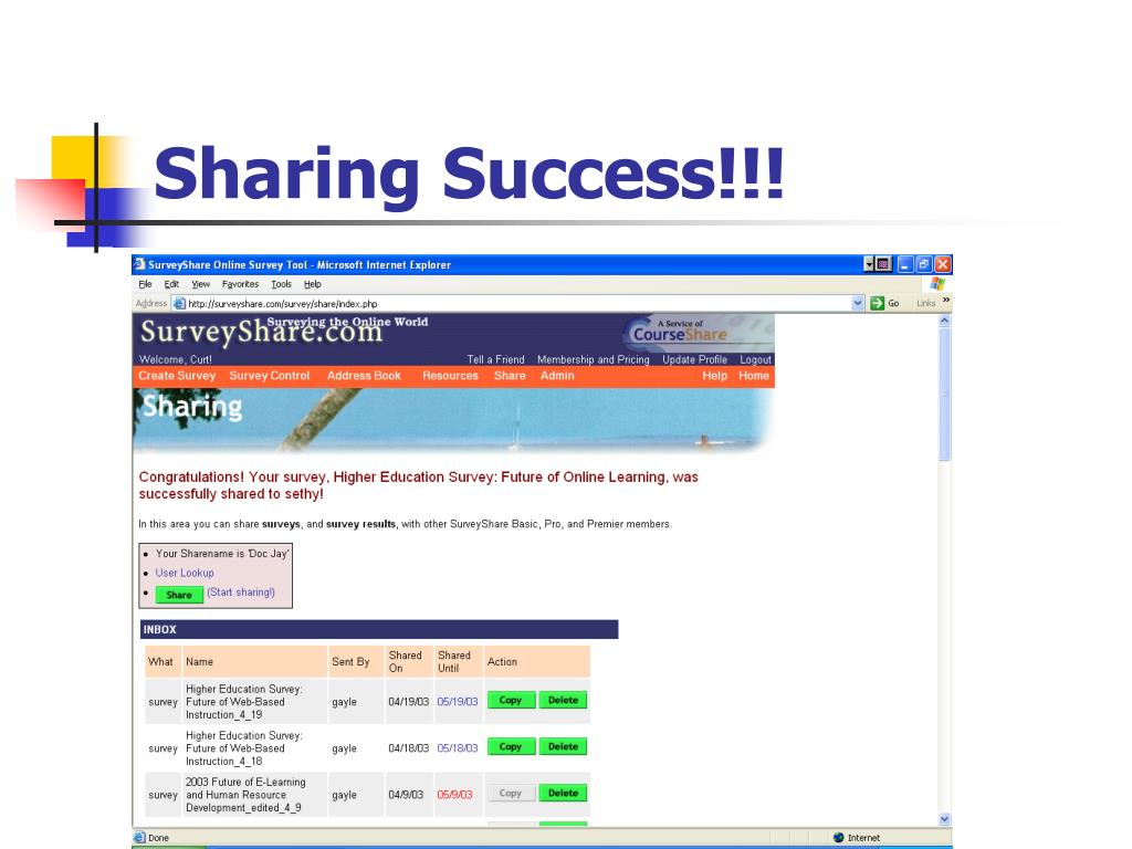 Sharing Success!!!