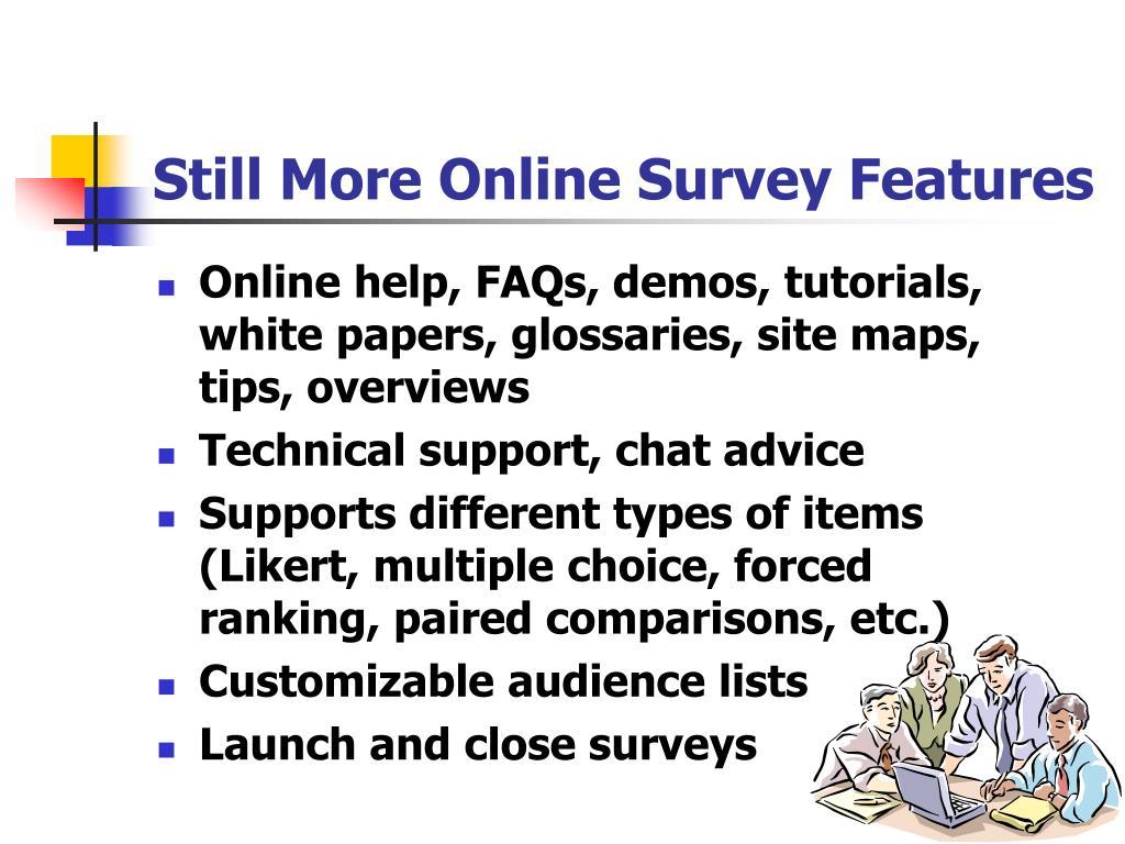 Still More Online Survey Features