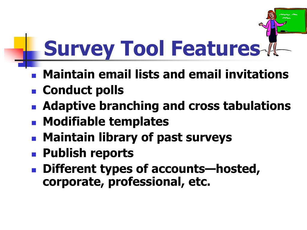 Survey Tool Features