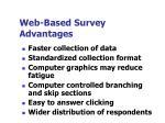 web based survey advantages