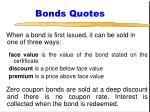 bonds quotes