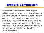 broker s commission
