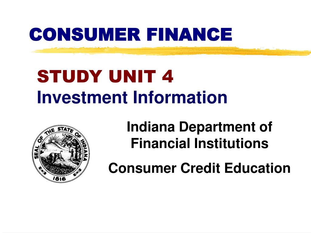 consumer finance l.