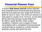 financial planner fees