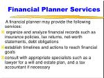 financial planner services