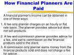 how financial planners are paid