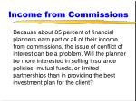 income from commissions