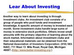 lear about investing