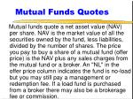 mutual funds quotes