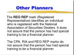 other planners67